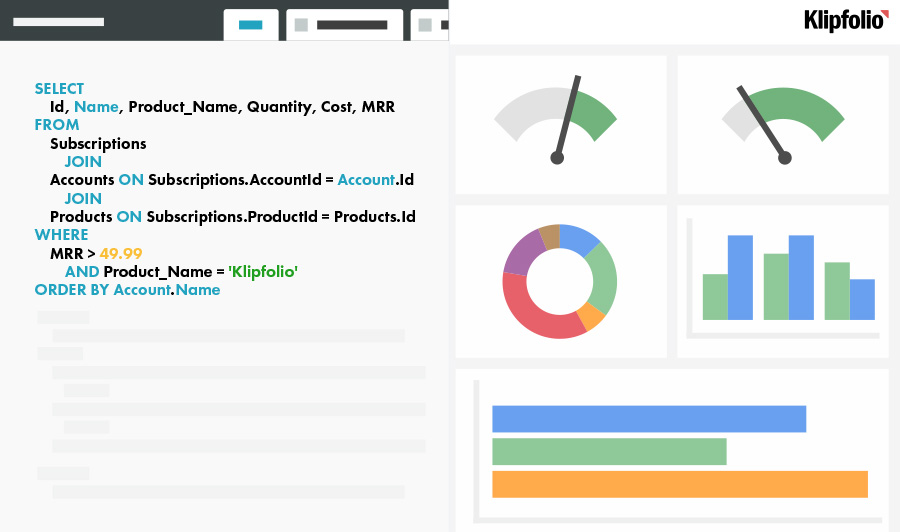 Database SQL Server Reporting Software Builder | Klipfolio
