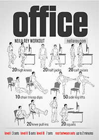 Office Fitness and Health Hacks | Desk Exercises