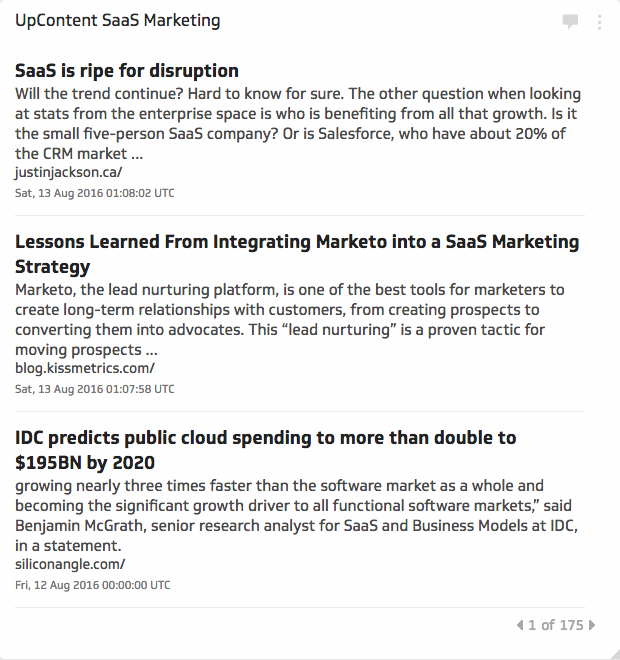 Using UpContent | Saas Marketing Metric