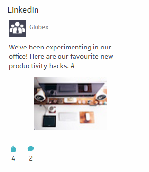 Dashboard Examples | LinkedIn - Recent Posts