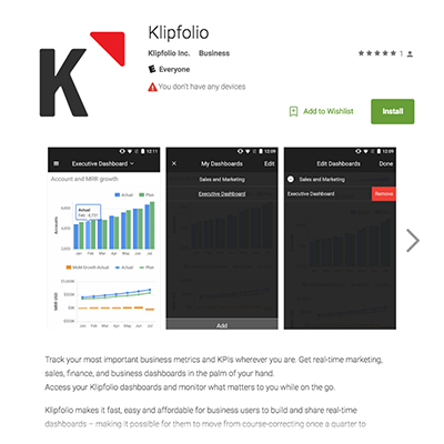 klipfolio - google play