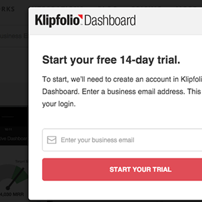 klipfolio - start trial