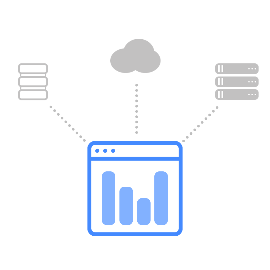 Business Solution Provider Dashboards - Servers, cloud, and database connections