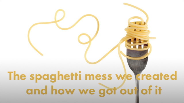 Startup Founder Blog | The spaghetti mess we created when we tried to integrate our data systems - and how we got out of it