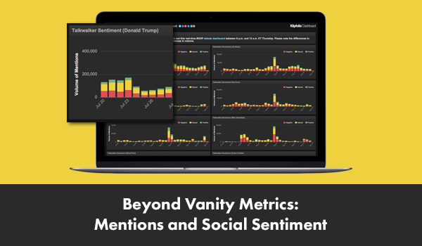 Beyond vanity metrics: mentions and social sentiment
