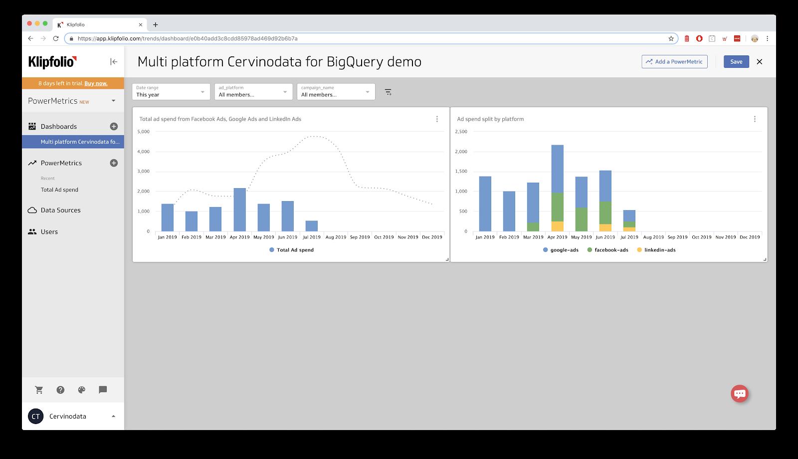 screenshot showing visualization