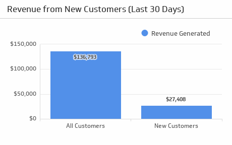 KPI new customers revenue report