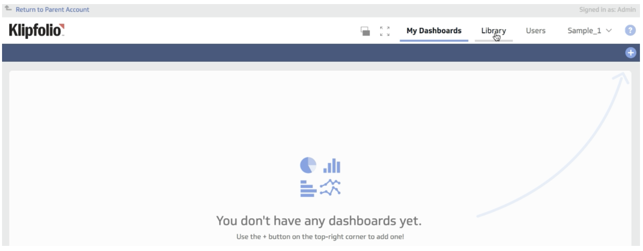 dashboard library tab
