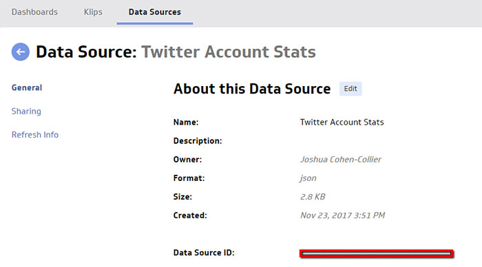 Use Klipfolio to Track Your Twitter Data | Data Source: Twitter Account Stats