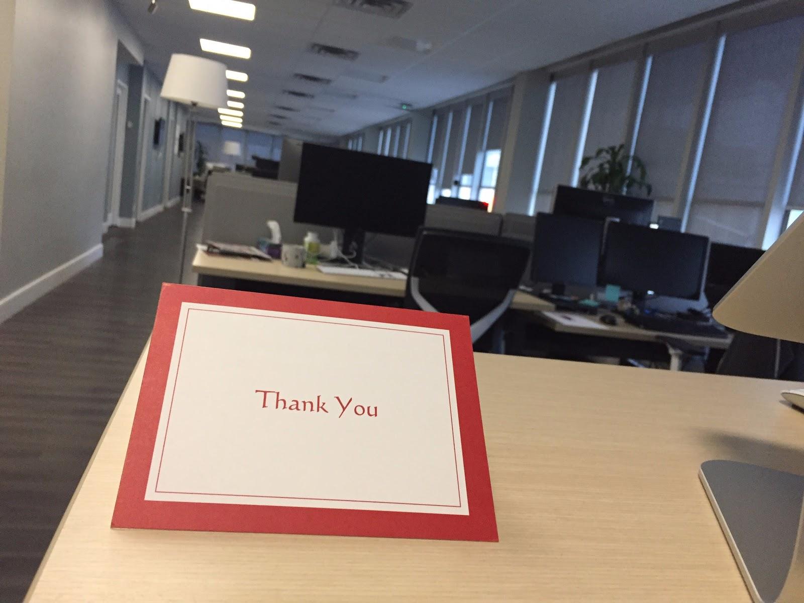Klipfolio's customized thank-you award card