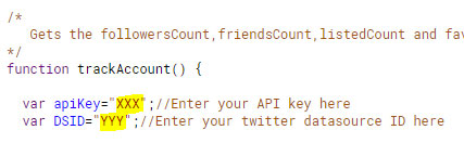 Use Klipfolio to Track Your Twitter Data | function count