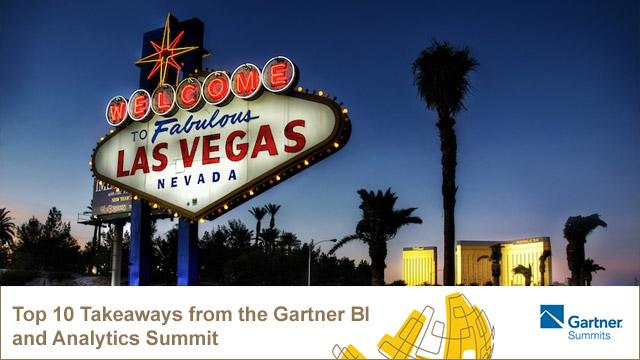 Startup Founder Blog | Top 10 Takeaways from the Gartner BI and Analytics Summit