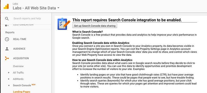 How to set up the Google Analytics-Search Console Integration | Google Analytics Search Console Step 1