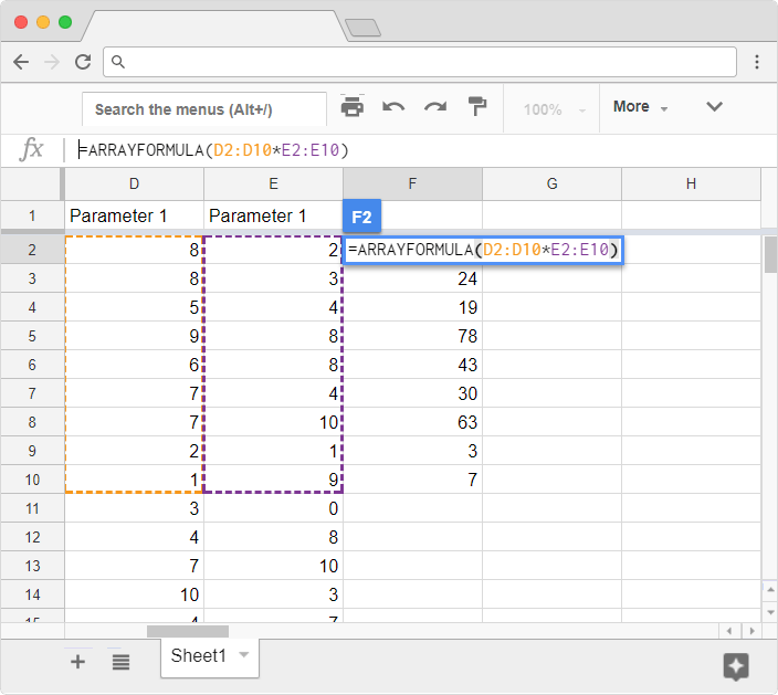 Google sheets best practices | infinite and automatic formulas