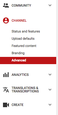 how to connect youtube account to google analytics youtube advanced settings