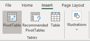 Microsoft Excel: Insert Pivot Table Prompt