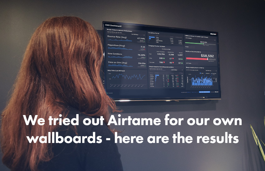 Klipfolio Blog | Airtame Wallboards