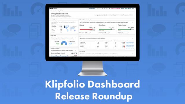 Q4 Klipfolio release roundup