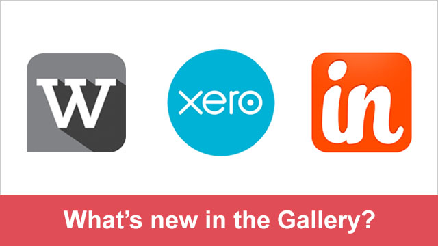 New in the Gallery - Xero, Webtrends, and Insightly