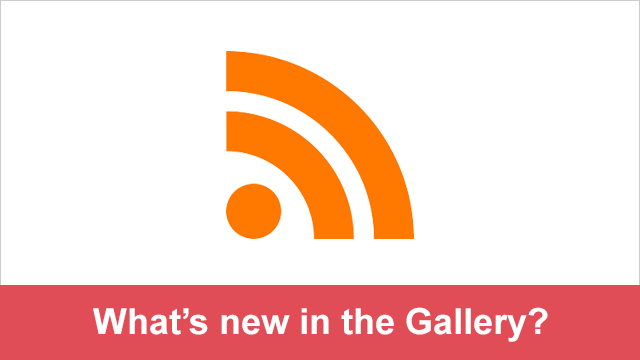 New in the Gallery - RSS Feeds