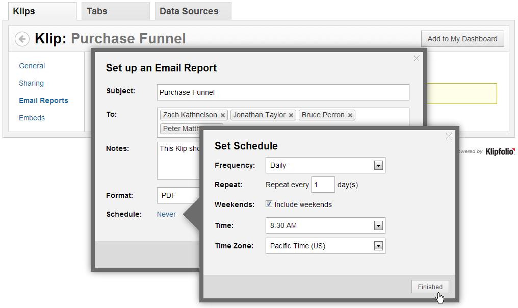 Release Sneak Peek - Email reports, Klip Embedding, SSO & comScore