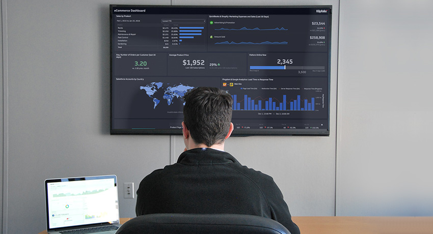 klipfolio - tv dashboard