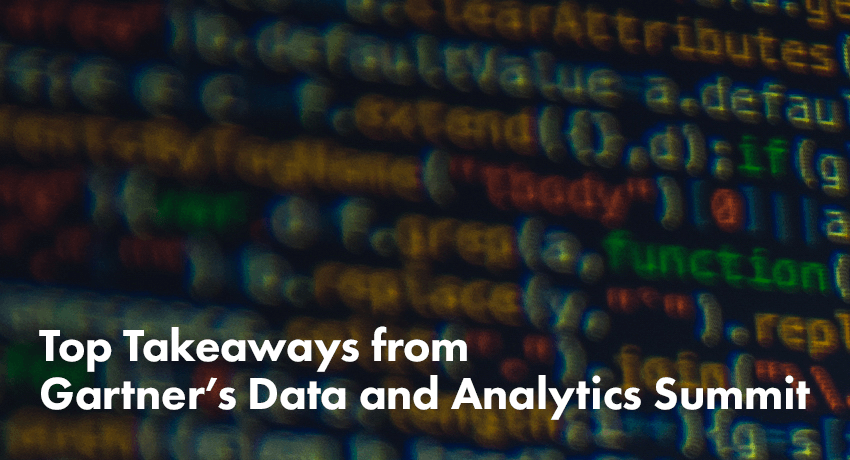 Top Takeaways Gartner Data and Analytics