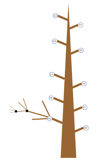 OKR tree with sub-objective branch