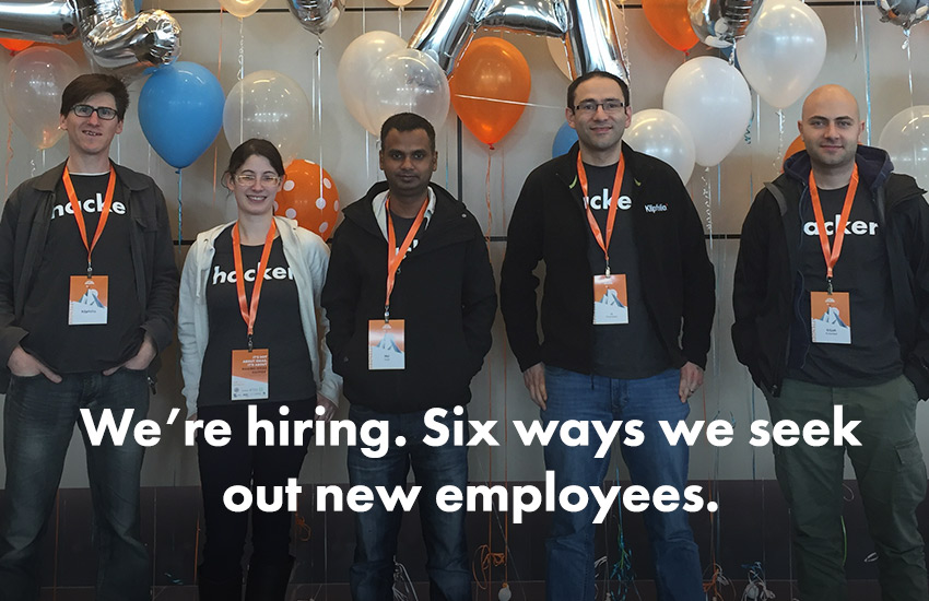 klipfolio - six ways we seek out new employees
