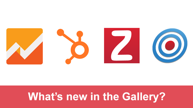 New in the Gallery - TrendSpottr, HubSpot, Zoho and Google Analytics