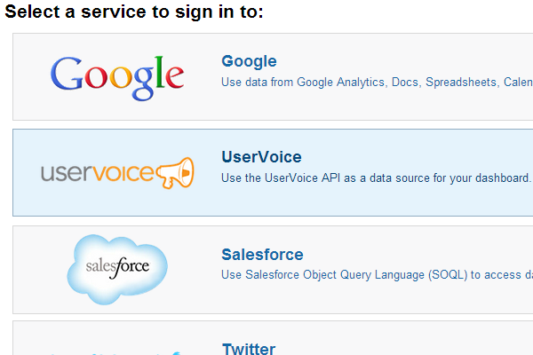 klipfolio - uservoice oauth