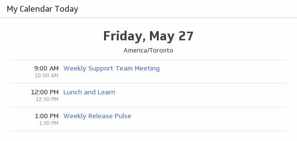 Klip Template | Google Calendar - My Calendar Today