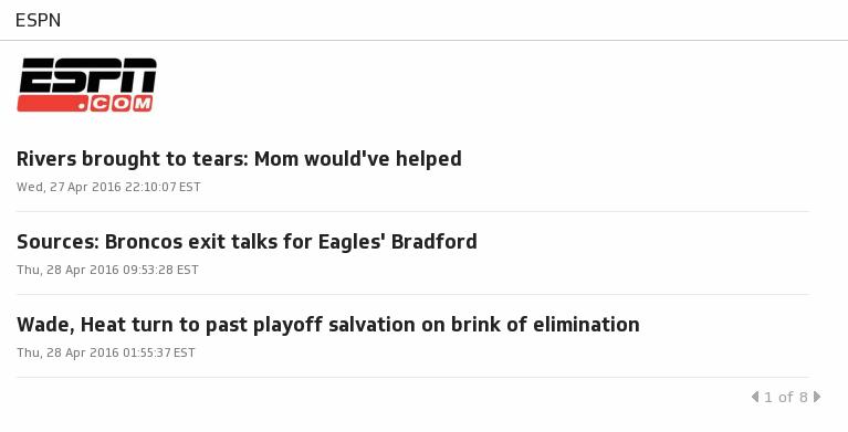 Klip Template | RSS Feeds - ESPN