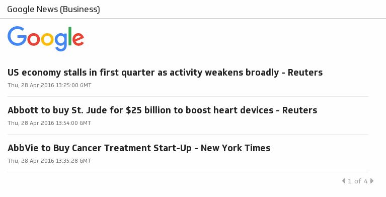 Klip Template | RSS Feeds - Google News (Business)