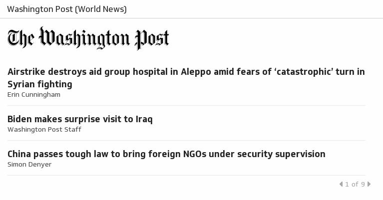 Klip Template | RSS Feeds - Washington Post (World News)