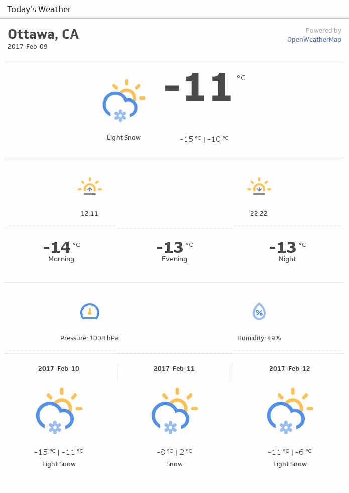 Klip Template | Weather - Today's Weather (Detailed)