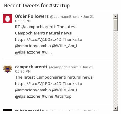 Klip Template | Twitter - Recent Hashtags
