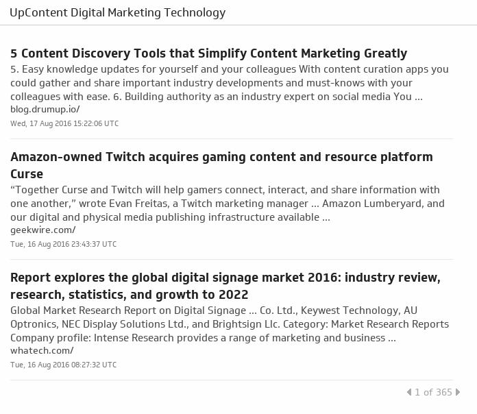 Klip Template | UpContent - Digital Marketing Technology