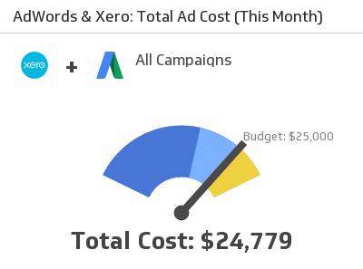 Klip Template | Xero Google AdWords - Total Ad Cost