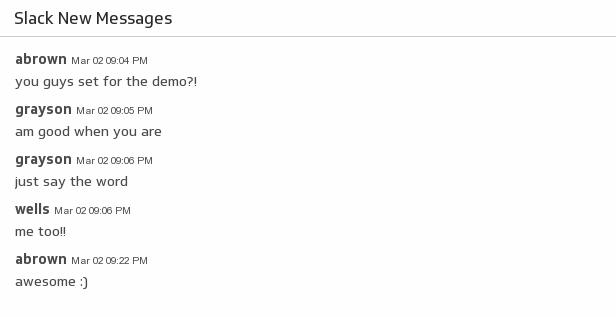 Klip Template | Slack Zapier - New Messages