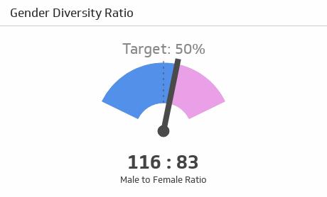 HR KPI Examples | Gender Ratio