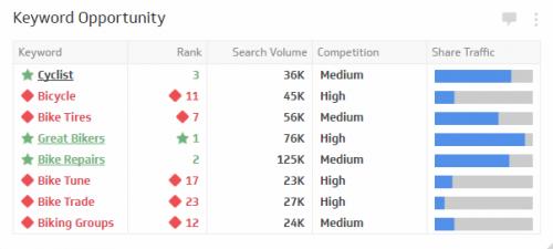 SEO KPI Examples | Keyword Opportunity