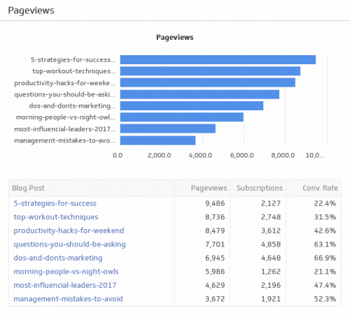 SEO KPI Examples | Pageviews