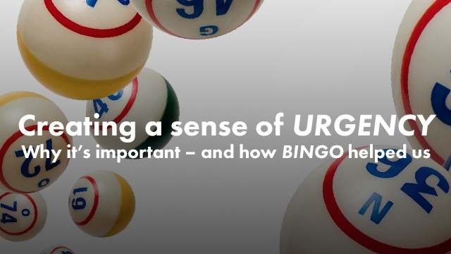 Startup Founder Blog | Creating a sense of urgency: Why it's important – and how bingo helped us