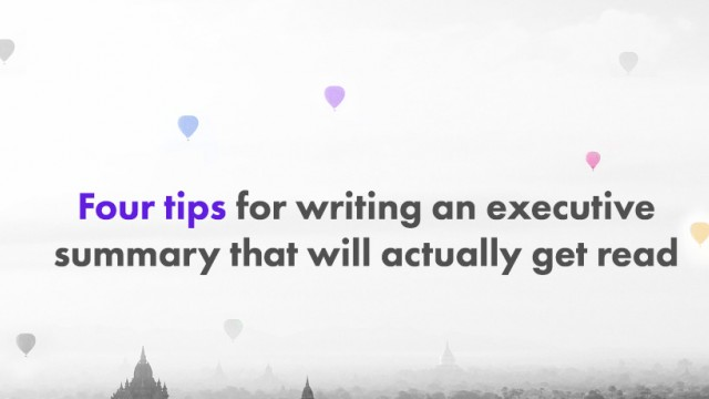 Startup Founder Blog | Tips for writing an executive summary