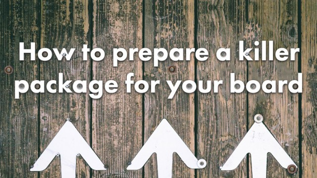 Startup Founder Blog | Preparing Board Package