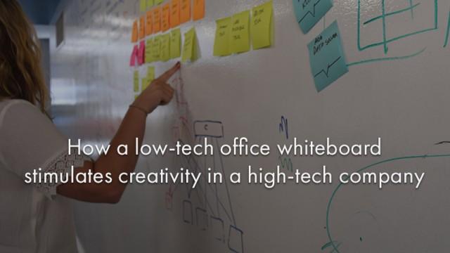 klipfolio - low tech whiteboard