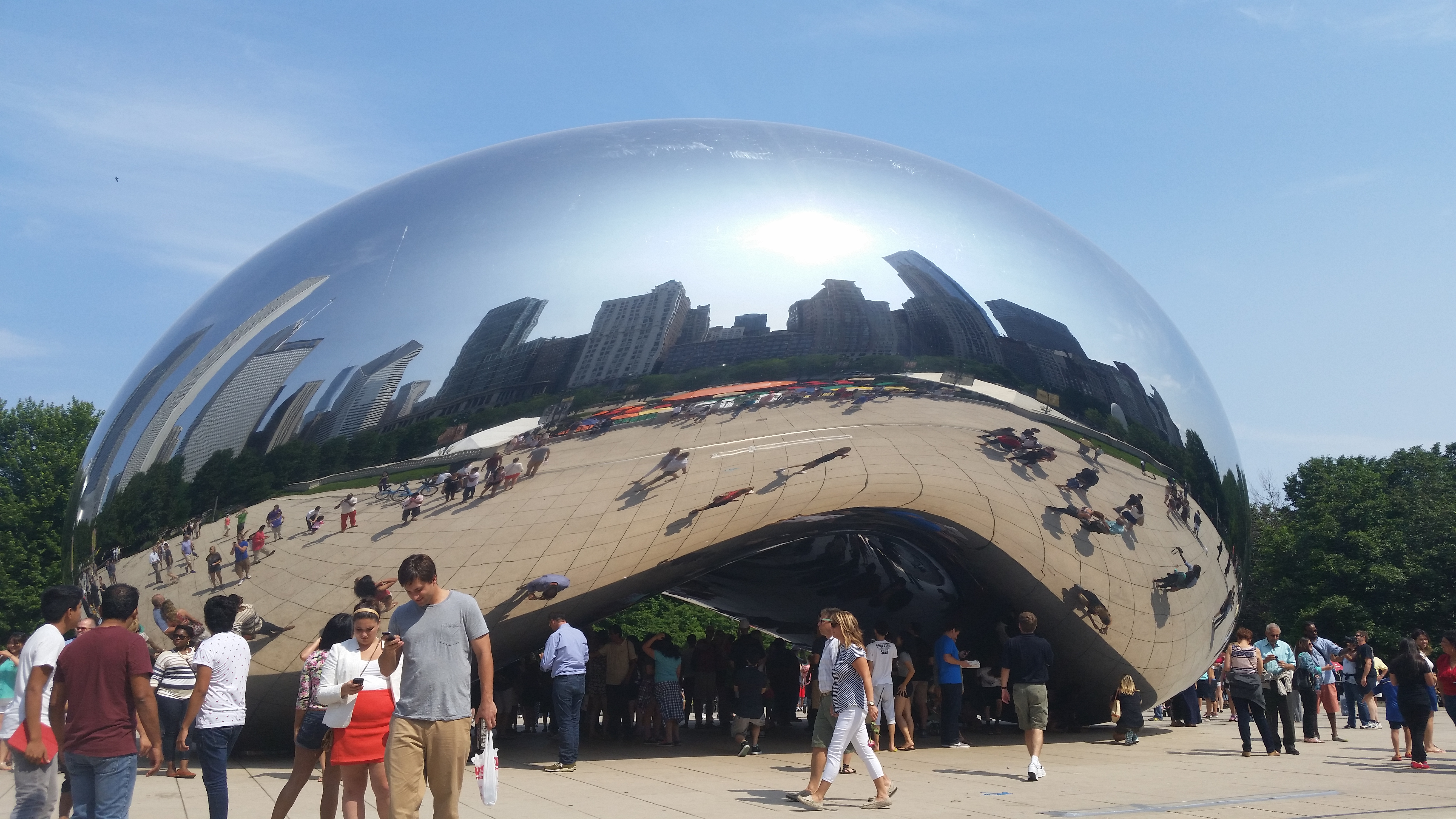 "Klipfolio at Visibility_14: Cloud Gate (""The Bean"") in Chicago's Millennium Park"