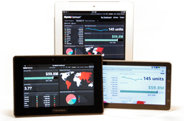 Klipfolio Dashboard for the Web and Mobile Devices.