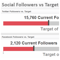 Social Media KPI Examples | Social Followers vs Target